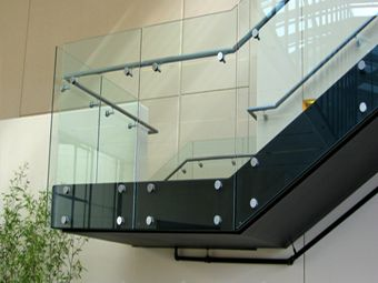 Commercial Glass railing installation